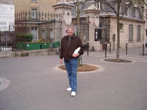 Dad on the streets of Paris