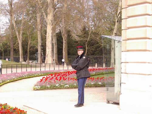 Guard at the Luxembourg Gardens